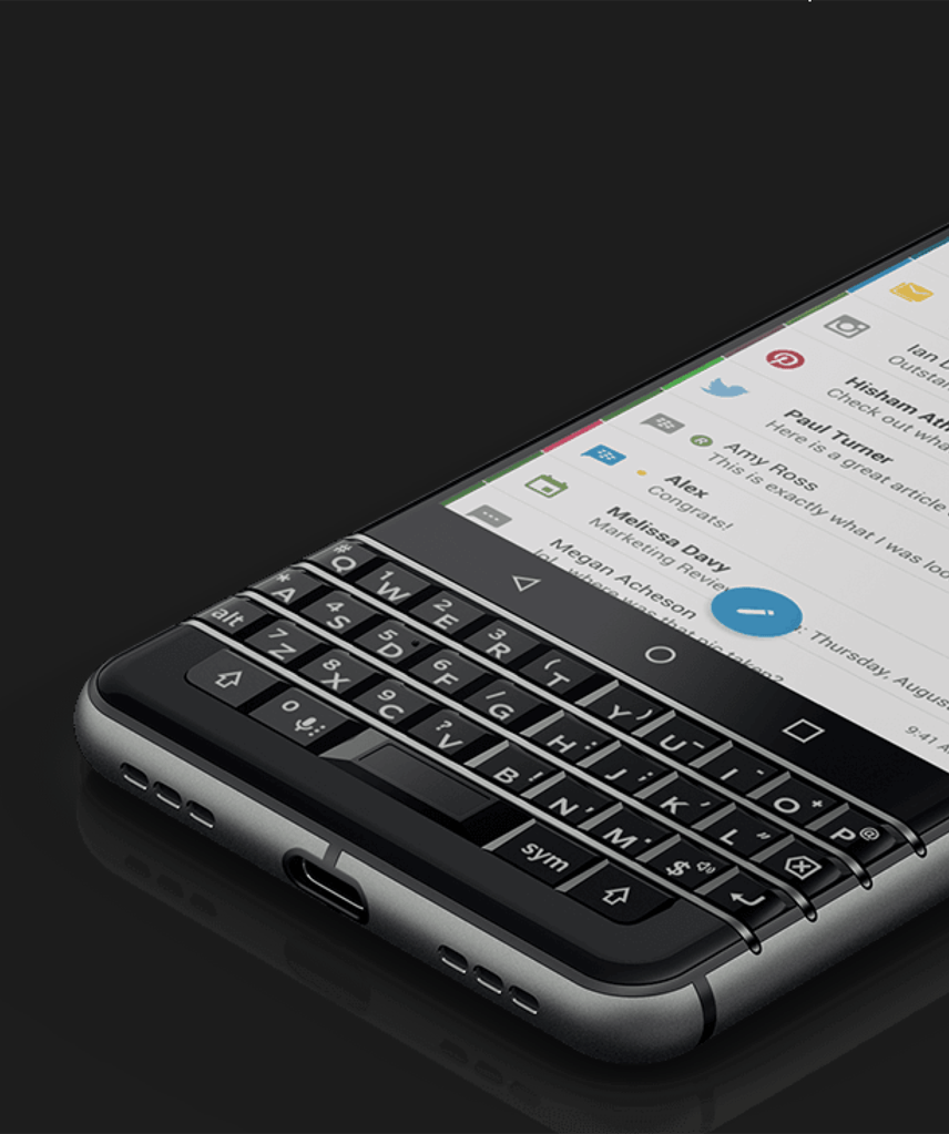 messages in one place - BlackBerry KEYone