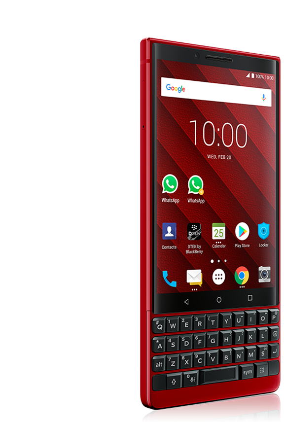 key 2 red back view 3 - BlackBerry KEY2