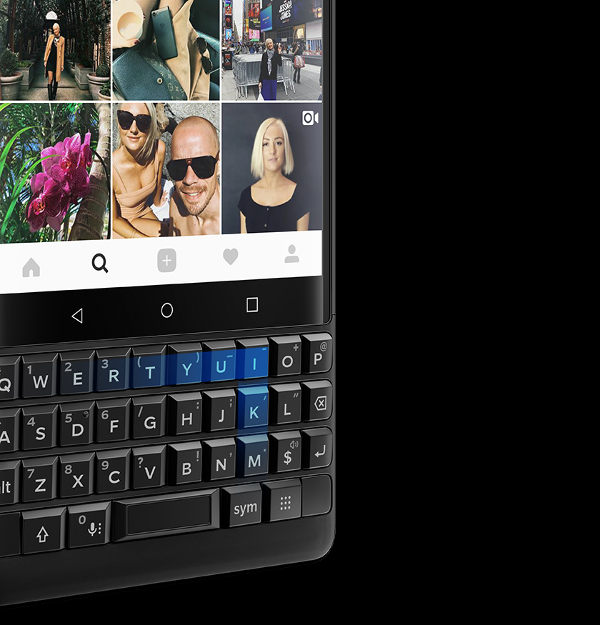 BlackBerry KEY2 - clavier intelligent