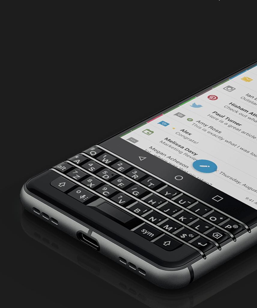BlackBerry KEYone - Nachrichtenverwaltungstool