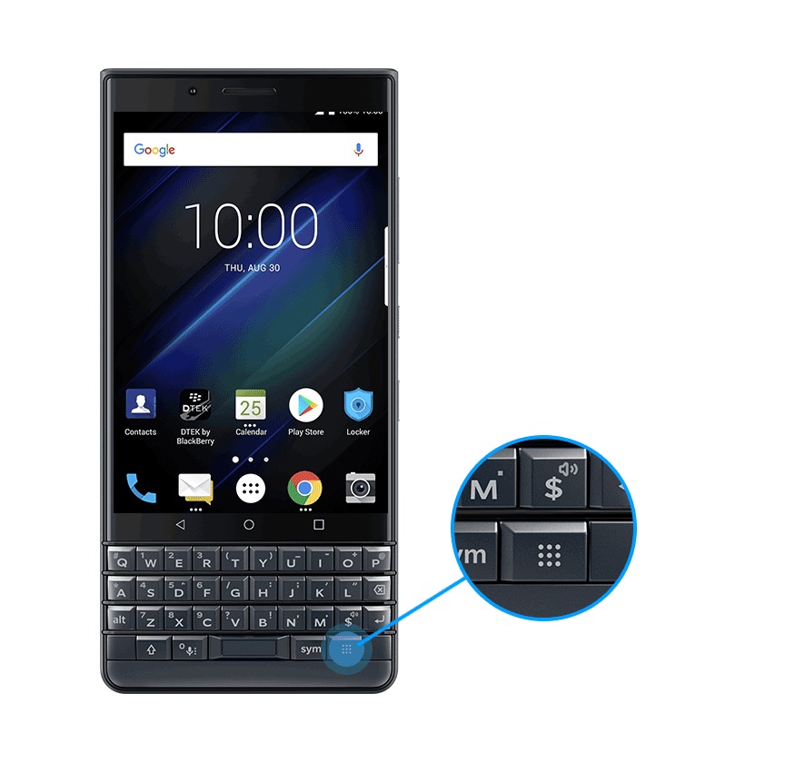 speedkey1 - BlackBerry KEY2 LE