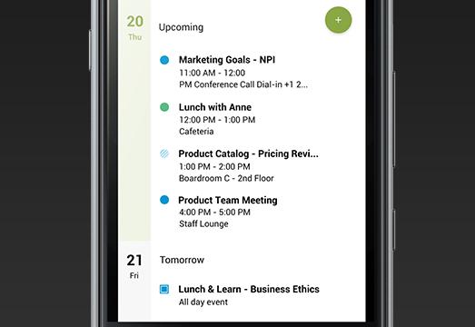 blackberry calendar - Empresas