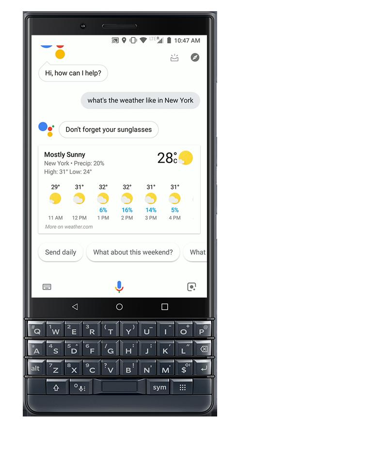 Google Assistant - BlackBerry KEY 2 LE