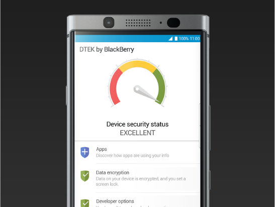 dtek by blackberry - الاعمال