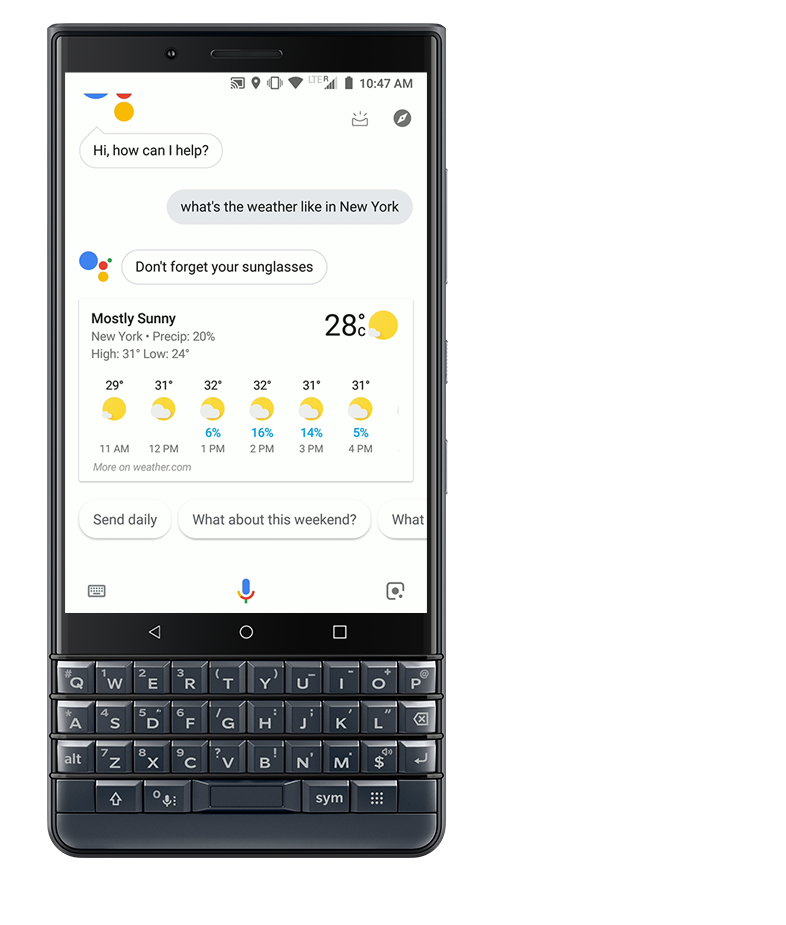 Google Assistant - BlackBerry KEY 2 LE