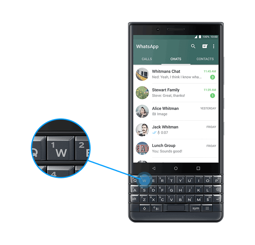 whatsapp - BlackBerry KEY 2 LE