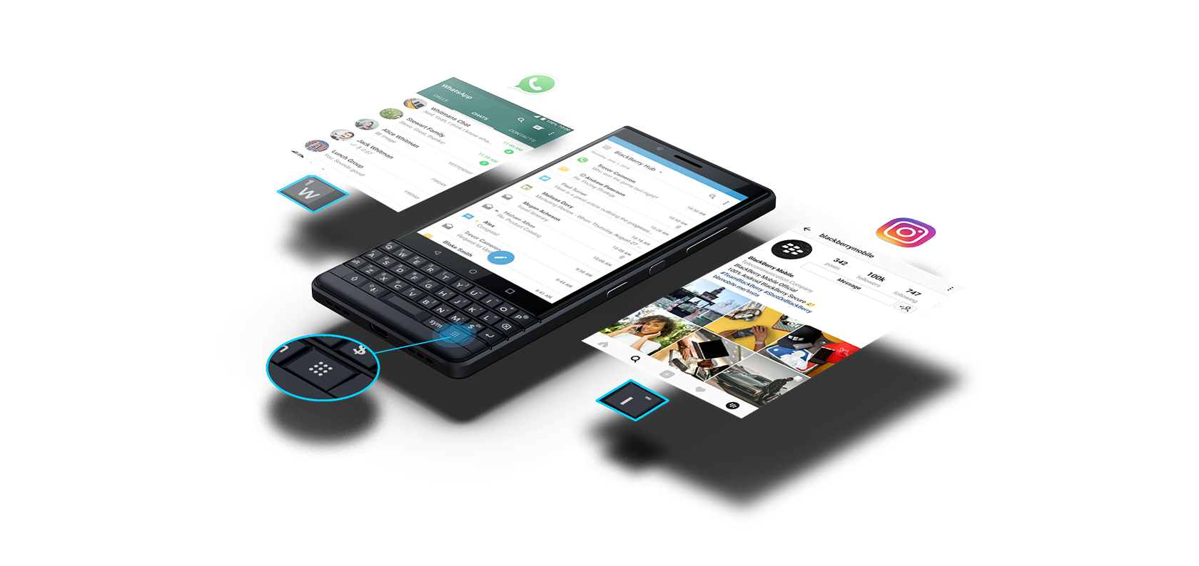 effortless efficiency transparent - BlackBerry KEY2 LE