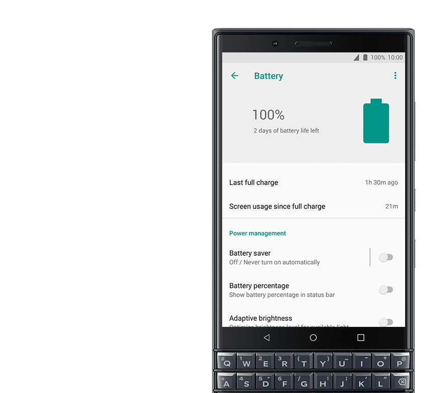 power management - BlackBerry KEY2 LE
