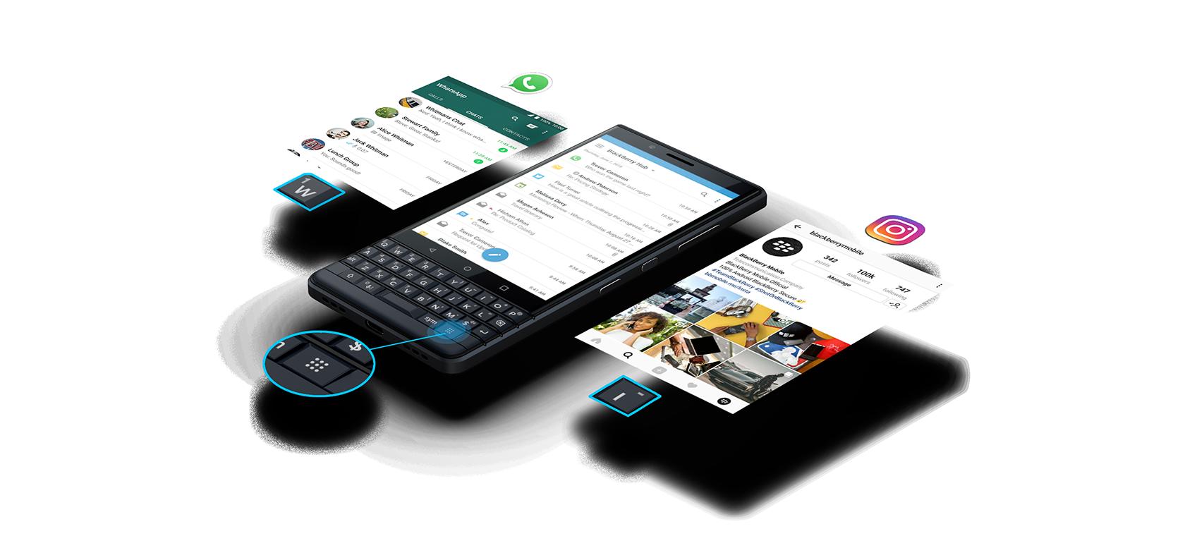 effortless efficiency transparent - BlackBerry KEY 2 LE