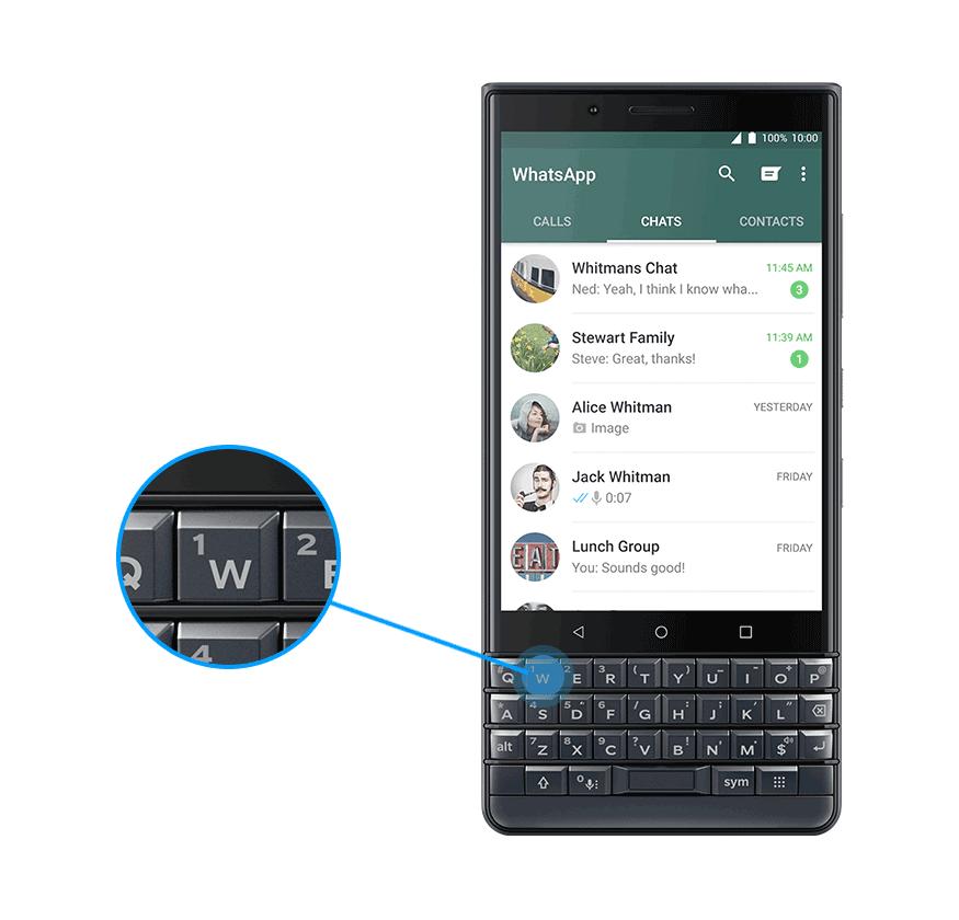whatsapp - BlackBerry KEY 2 LE