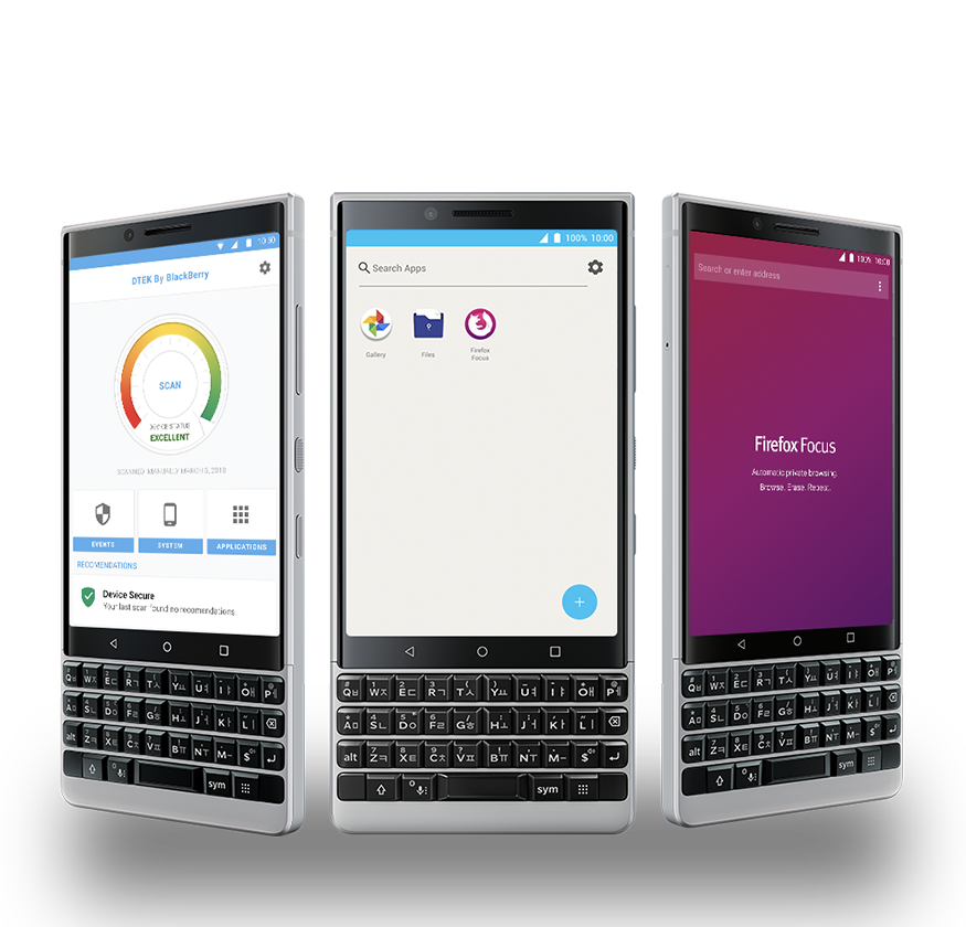 dtek and firefox browser mb1 - BlackBerry KEY2